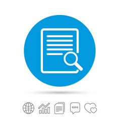 Search in file sign icon find in document vector