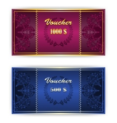 Voucher Coupon template with border vector image