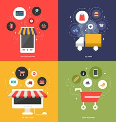 On-Line Shopping Delivery On-Line Store Good vector image