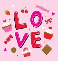 valentine love sweetheart cute cartoon vector image vector image