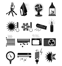 Ventilation icons set vector image vector image