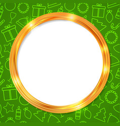 abstract glow golden circle frame christmas vector image