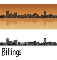 Billings skyline in orange vector image vector image