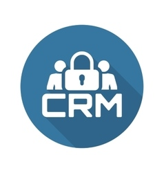 CRM Security Icon Flat Design vector image
