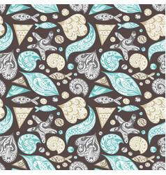 ornamental sea pattern vector image