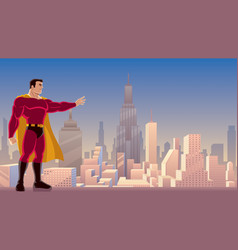 superhero power in city vector image