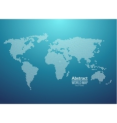 3d abstract world map planet dot global radial vector image