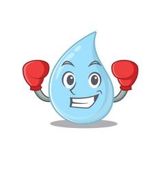 A sporty boxing athlete mascot design raindrop vector