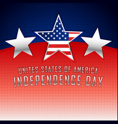 american independence day background with three vector image