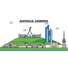 Australia canberra city skyline architecture vector