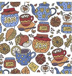 autumn doodle detailed vector image