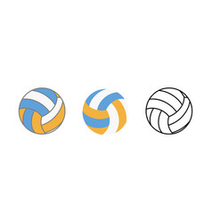 ball for playing volleyball icon realistic flat vector image