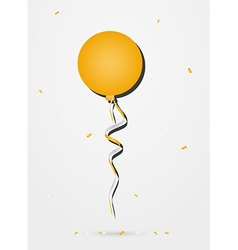 Balloon with confetti vector