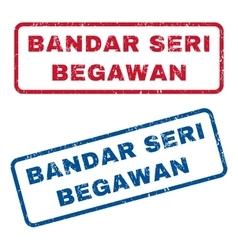 Bandar Seri Begawan Rubber Stamps vector