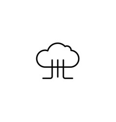 big data cloud icon vector image