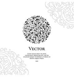 black circle abstract emblem vector image