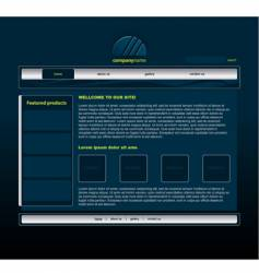 Blue website vector