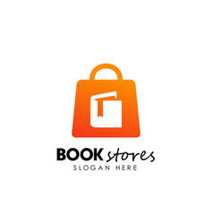 book stores logo design book shop icon design vector image