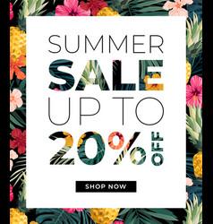 bright orange summer design with exotic vector image