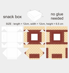 Brown Snack Box 12x12x65cm vector image