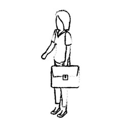 Businesswoman isometric avatar character with vector