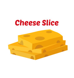 Cheese slices yellow cheddar milk product vector