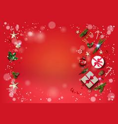 Christmas festive template card vector