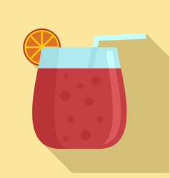 cocktail glass icon flat style vector image