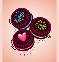 cookies happy dreams vector image