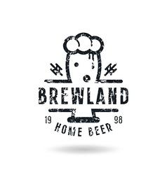 Craft beer brewery emblem vector image