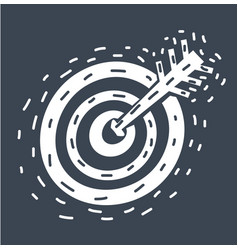 dart with target arrows concept marketing vector image