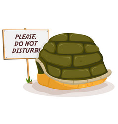 do not disturb turtle sleeping vector image