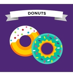 Donut icons isolated vector image