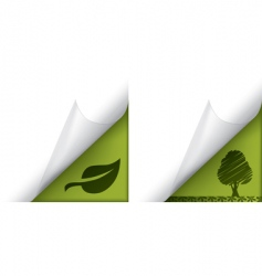 Ecology page curled corners vector