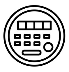 Electric energy meter icon outline style vector