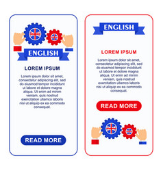 english banners gear vector image