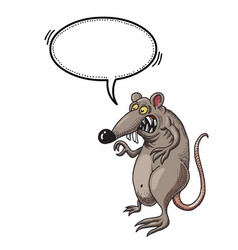 evil rat-100 vector image