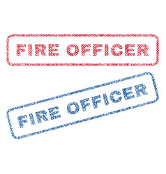 Fire officer textile stamps vector