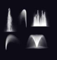 fountain water realistic jets and spray splashes vector image