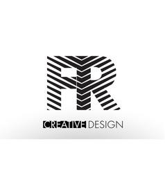 fr f r lines letter design with creative elegant vector image
