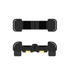 Front and top view black hoverboard vector