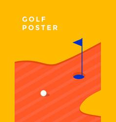 Golf tournament poster vector