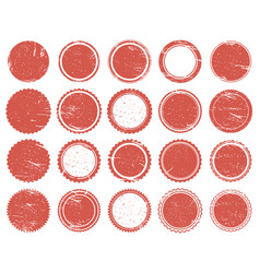 grunge texture stamp rubber red circle stamps vector image