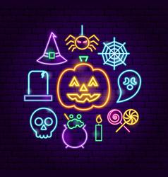 halloween neon concept vector image