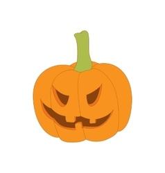 Halloween pumpkin icon in cartoon style vector image