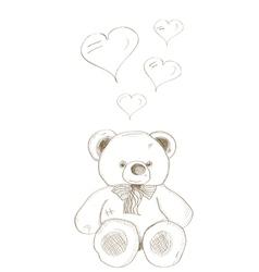 Hand drawn bear vector