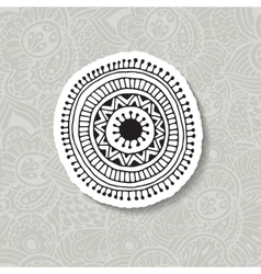 Hand drawn boho circular vector