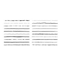 Hand drawn doodle lines pencil stroke underline vector