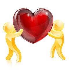 Heart love gold people vector