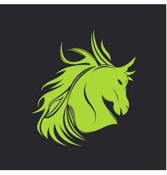 horse logo design 2019 vector image